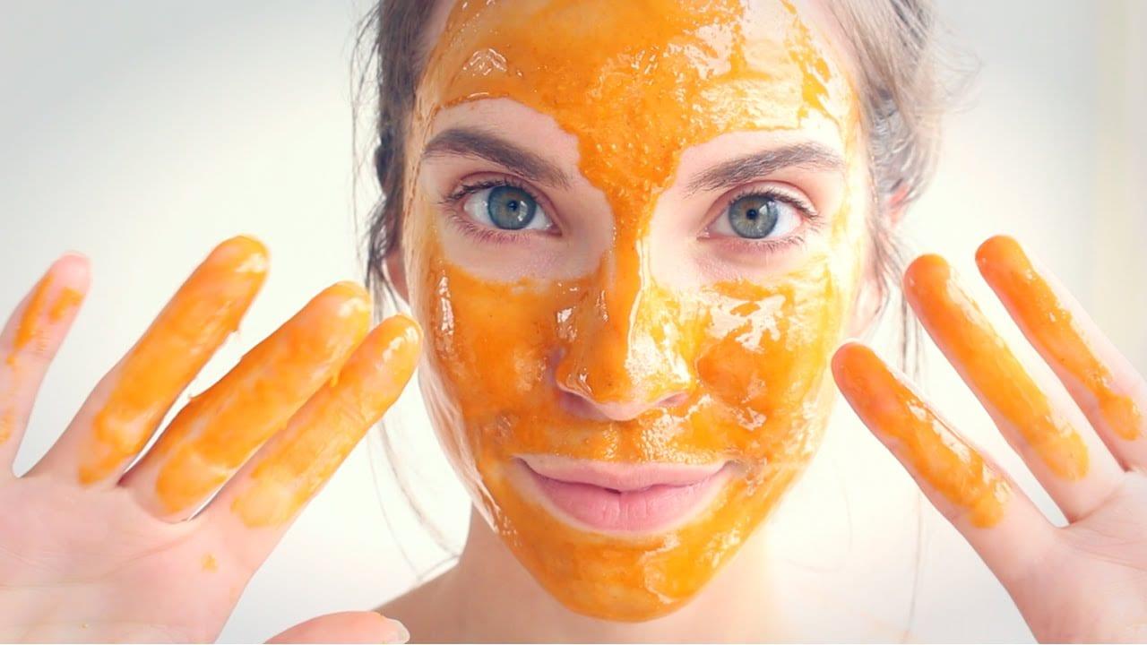 máscara facial caseira